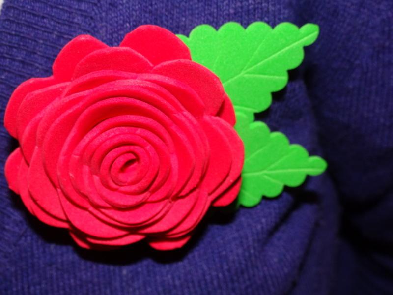 80f23db8cc4 Tutorial Flor Goma Eva (rosa 3D)